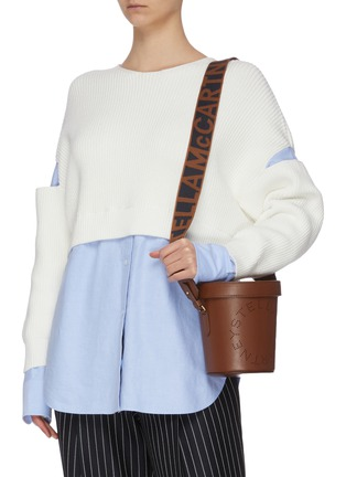 Figure View - Click To Enlarge - STELLA MCCARTNEY - Perforated eco leather bucket bag