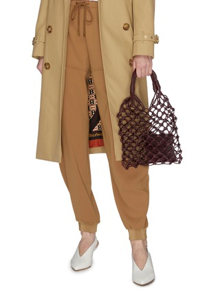 Front View - Click To Enlarge - STELLA MCCARTNEY - Eco alter nappa leather knotted tote bag