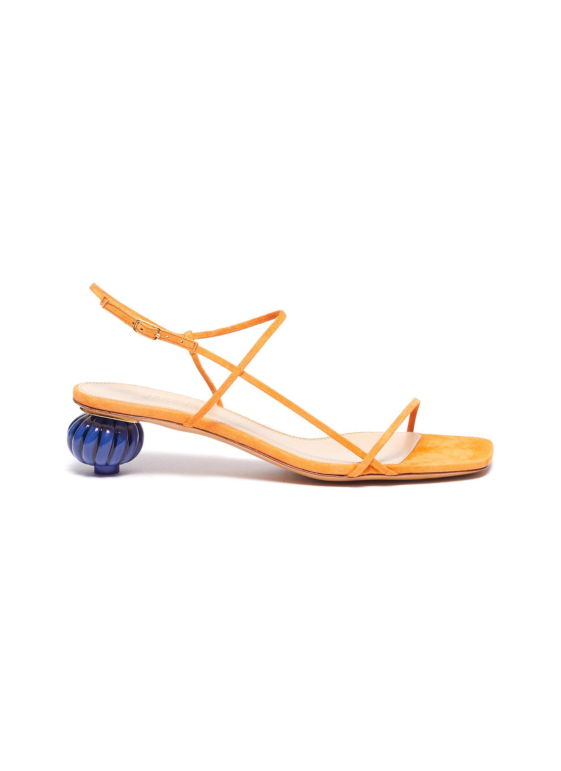Jacquemus Low Heels Les Sandales asymmetric heel strappy sandals