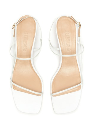 Detail View - Click To Enlarge - JACQUEMUS - 'Les Sandales' asymmetric ball heel sandals