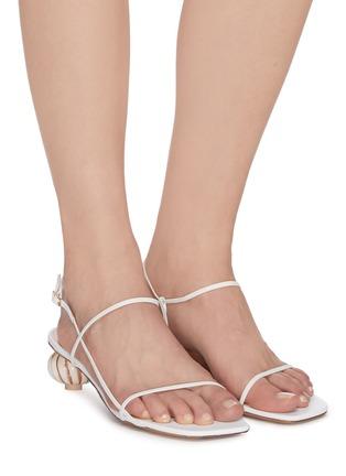 Figure View - Click To Enlarge - JACQUEMUS - 'Les Sandales' asymmetric ball heel sandals
