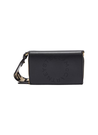Main View - Click To Enlarge - STELLA MCCARTNEY - Eco alter nappa leather logo strap zip wallet