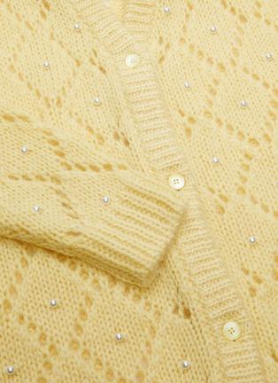- MIU MIU - Pearl Crochet Mohair Knit Cardigan