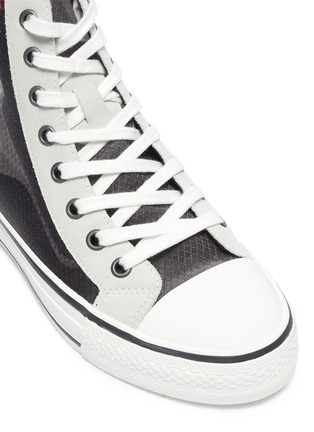 Detail View - Click To Enlarge - ASH - 'Gasper' sheer panel high top lace up sneakers