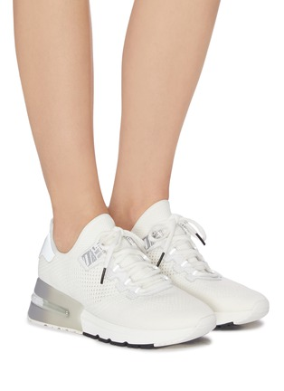 Figure View - Click To Enlarge - ASH - 'Krush Bis' Perforated Knit Sneakers