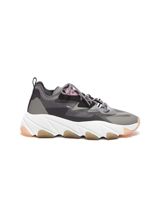 Main View - Click To Enlarge - ASH - 'Eclipse' chunky outsole suede panel ripstop sneakers