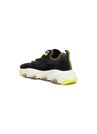 - ASH - 'Eclipse Bis' chunky outsole suede panel ripstop sneakers