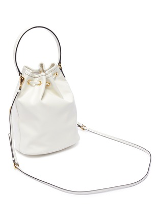 Detail View - Click To Enlarge - PRADA - Drawstring leather clutch