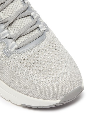 Detail View - Click To Enlarge - ASH - 'Krush Lurex' Perforated Glitter Knit Sneakers