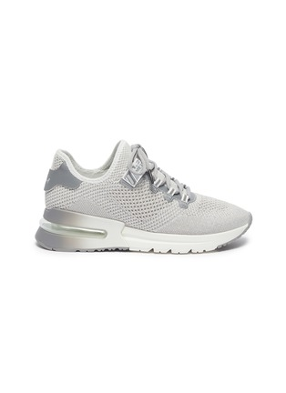Main View - Click To Enlarge - ASH - 'Krush Lurex' Perforated Glitter Knit Sneakers