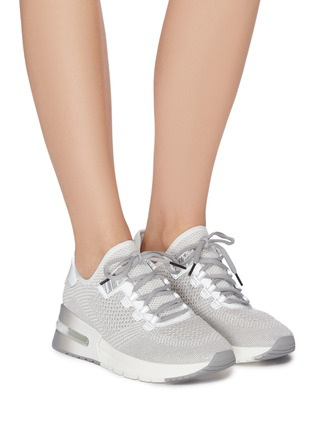 Figure View - Click To Enlarge - ASH - 'Krush Lurex' Perforated Glitter Knit Sneakers