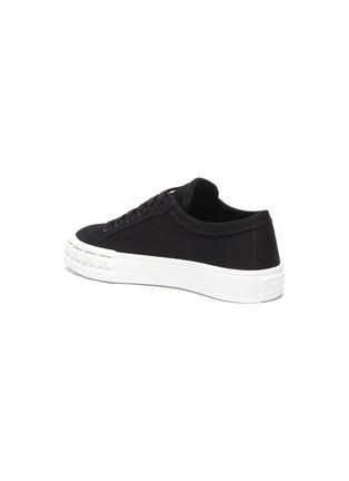 - PRADA - Logo print low top gabardine sneakers