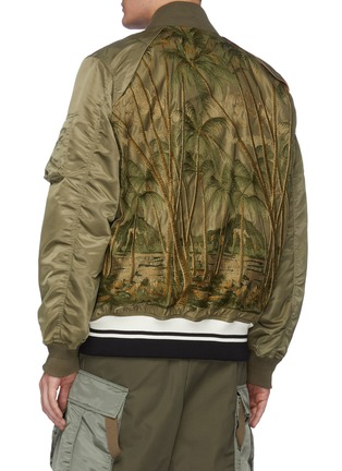 Back View - Click To Enlarge - SACAI - Jungle embroidered MA-1 bomber jacket