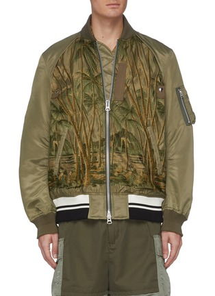Main View - Click To Enlarge - SACAI - Jungle embroidered MA-1 bomber jacket
