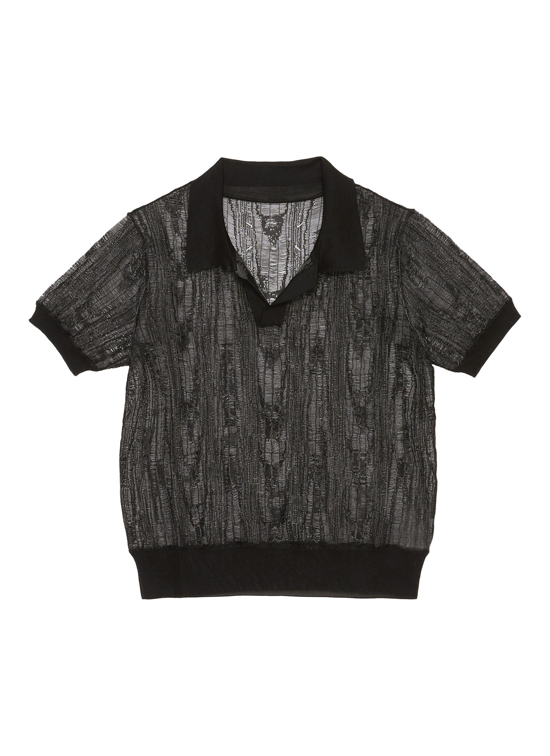 shop Maison Margiela Distress Effect Sheer Top online