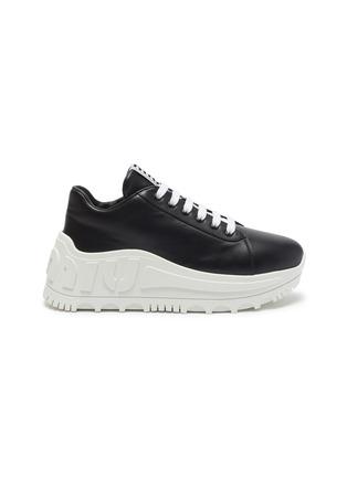 Main View - Click To Enlarge - MIU MIU - Platform leather sneakers