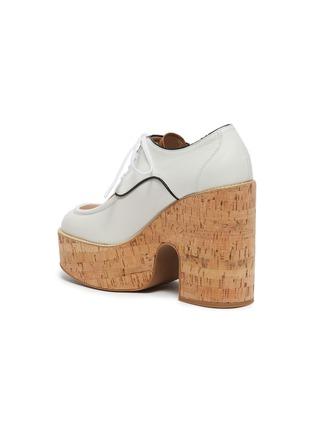 - MIU MIU - Bi-colour platform calf leather oxfords