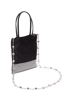 Detail View - Click To Enlarge - MIU MIU - 'Starlight' strass embellished mini tote bag