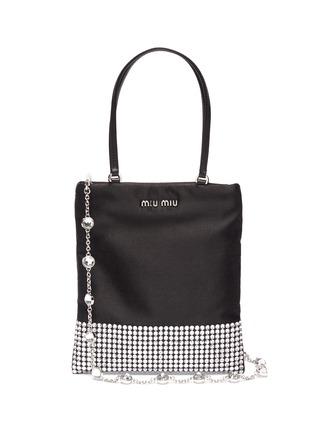 Main View - Click To Enlarge - MIU MIU - 'Starlight' strass embellished mini tote bag