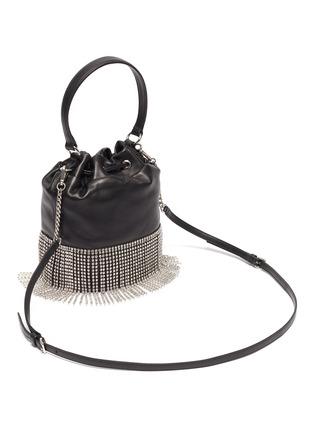 Detail View - Click To Enlarge - MIU MIU - 'Starlight' fringe leather bucket bag