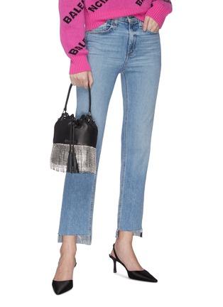 Figure View - Click To Enlarge - MIU MIU - 'Starlight' fringe leather bucket bag