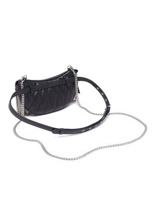 Detail View - Click To Enlarge - MIU MIU - 'Starlight' fringe leather beltbag