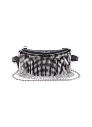 Main View - Click To Enlarge - MIU MIU - 'Starlight' fringe leather beltbag
