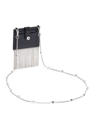 Detail View - Click To Enlarge - MIU MIU - 'Starlight' fringe glace calf leather cardholder