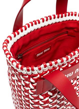 Detail View - Click To Enlarge - MIU MIU - Intreccio woven leather bucket bag