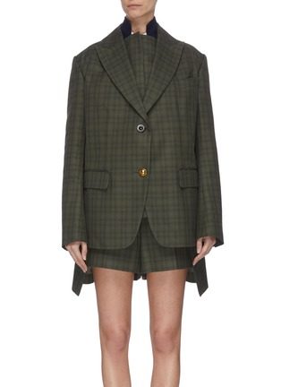 Main View - Click To Enlarge - SACAI - Double blazer check panelled jacket