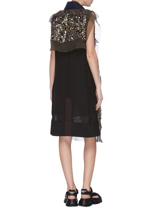 Back View - Click To Enlarge - SACAI - V-neck sequin dress