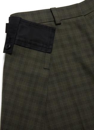 - SACAI - Side fold tailored check shorts
