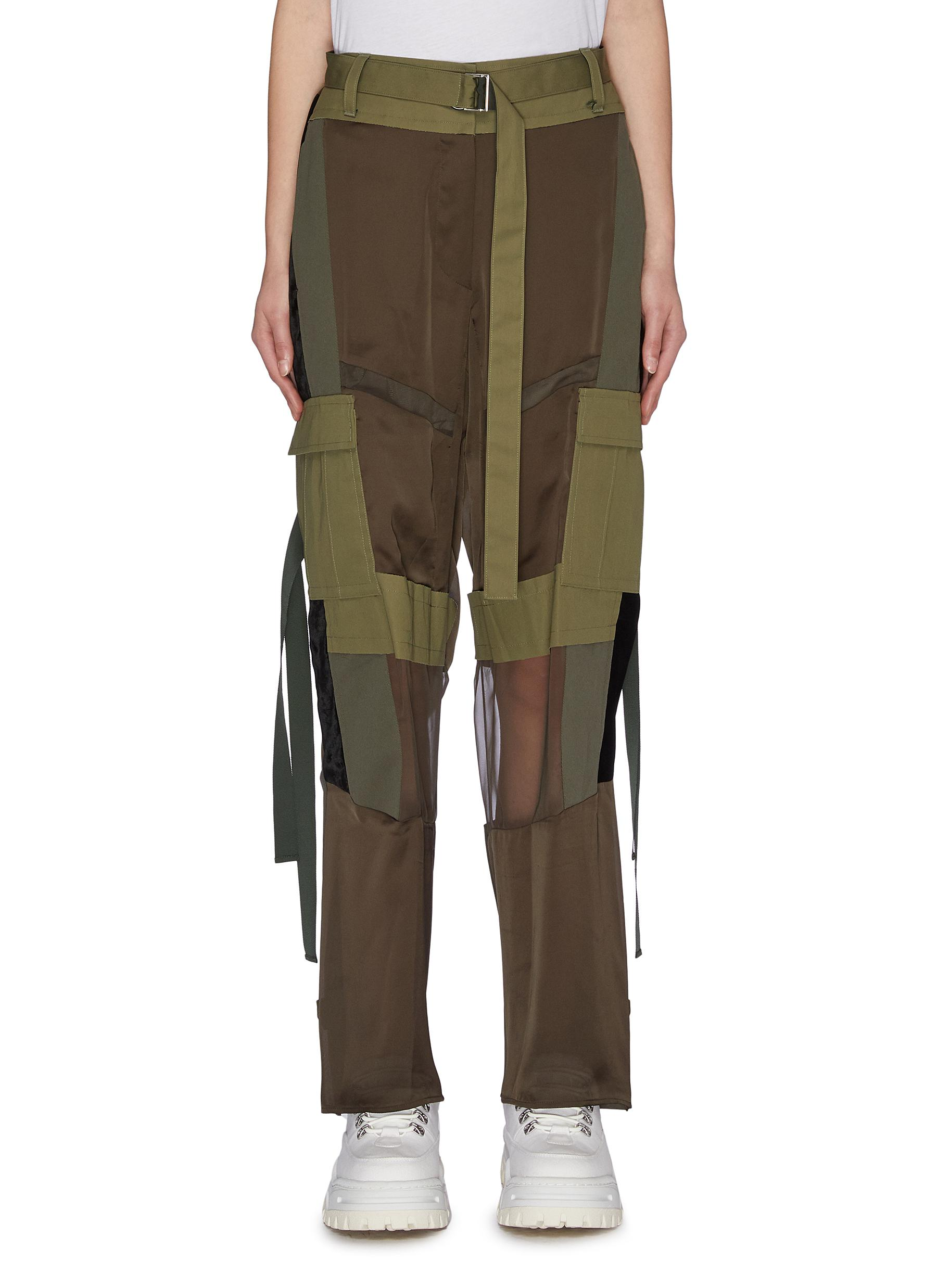 shop Sacai Panelled cargo pants online