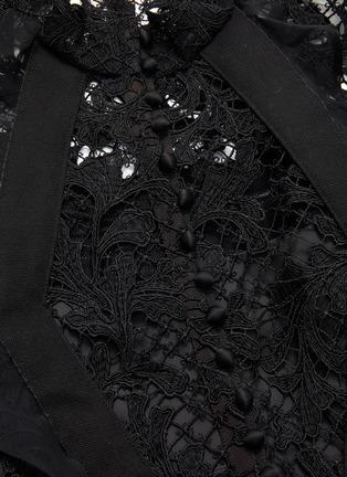 - SACAI - Lace belted dress