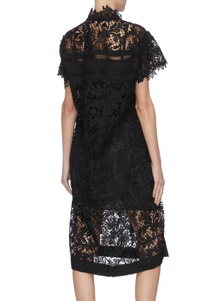 Back View - Click To Enlarge - SACAI - Lace belted dress