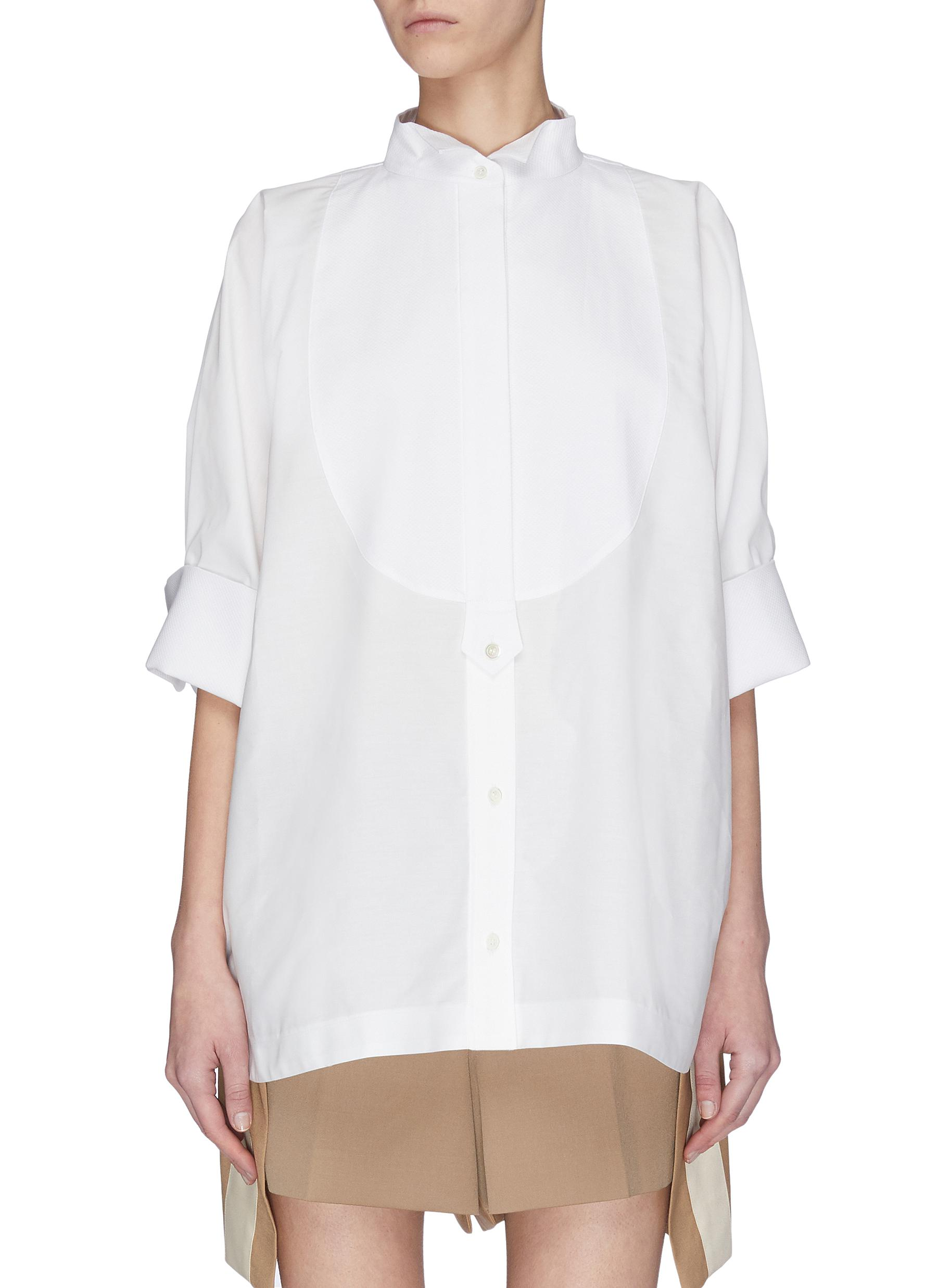 Buy Sacai Tops 'Bowtie' oversized shirt