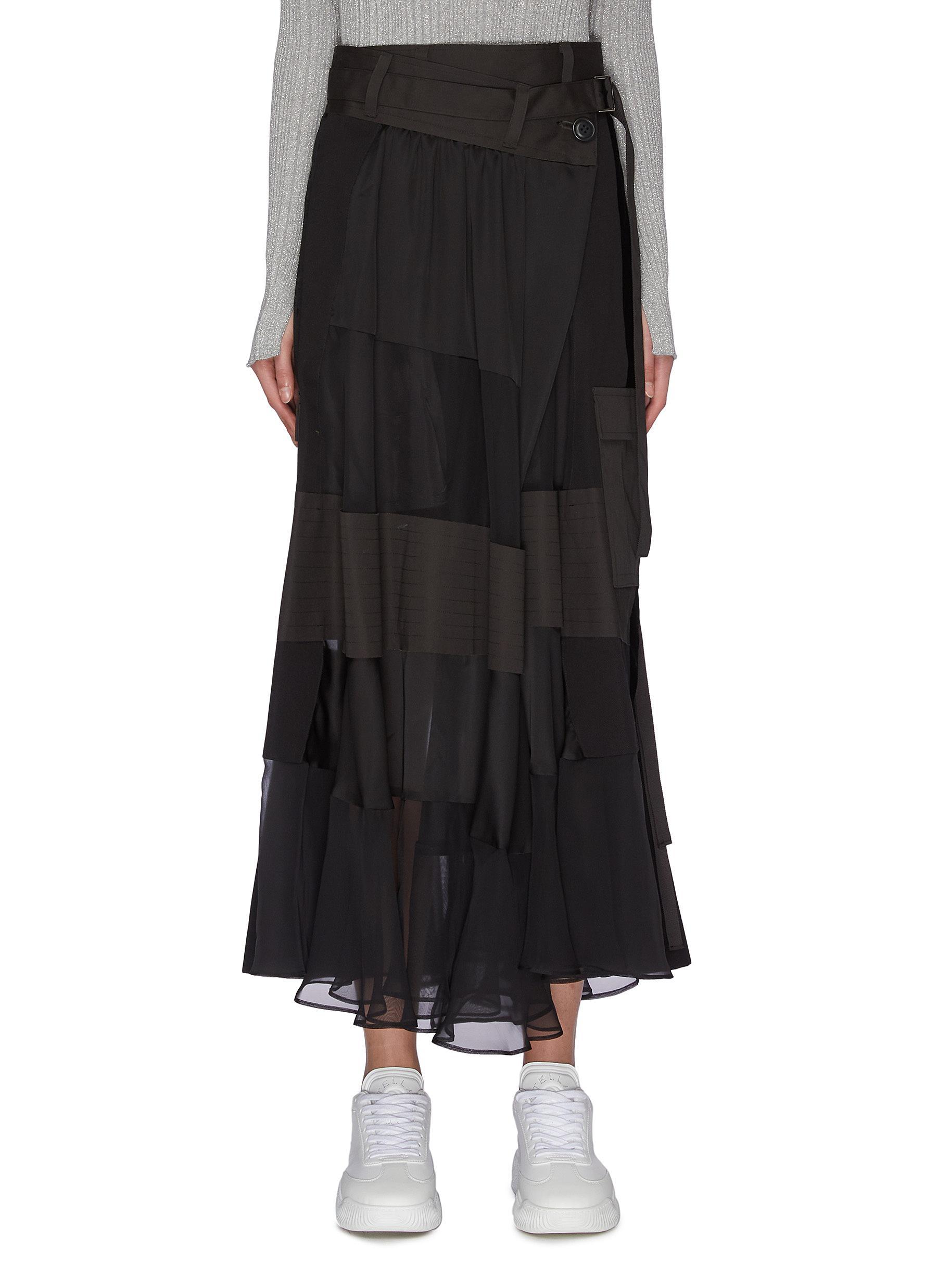 shop Sacai Panelled maxi skirt online