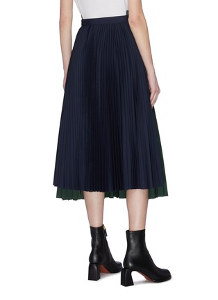 Back View - Click To Enlarge - SACAI - Paneled pleated wrap around skirt