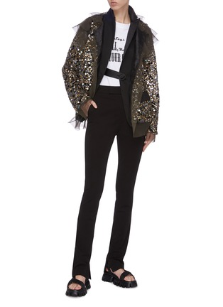 Figure View - Click To Enlarge - SACAI - Sequin sheer tuxedo