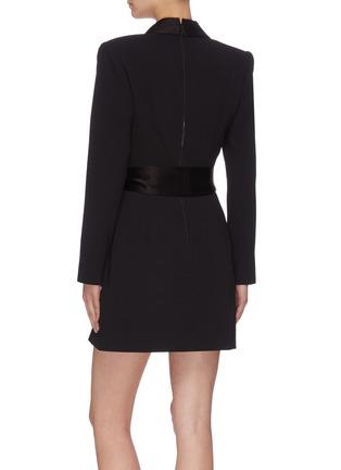 Back View - Click To Enlarge - ALICE + OLIVIA - 'Mona' V neck sash tie dress