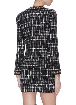 Back View - Click To Enlarge - ALICE + OLIVIA - 'Carmen' pearl embellished check plaid blazer