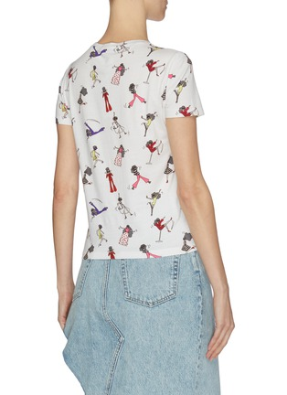 Back View - Click To Enlarge - ALICE + OLIVIA - 'Rylyn' graphic print cotton T-shirt