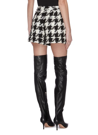 Back View - Click To Enlarge - ALICE + OLIVIA - 'Conry' houndstooth tweed shorts
