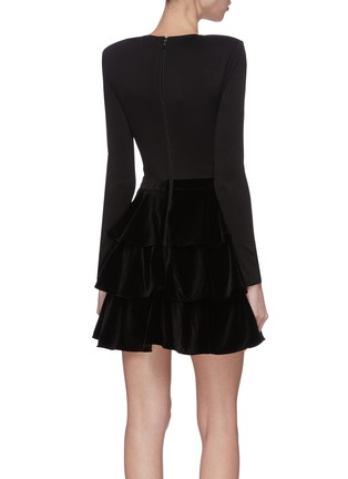 Back View - Click To Enlarge - ALICE + OLIVIA - 'Jalen' tiered mini dress