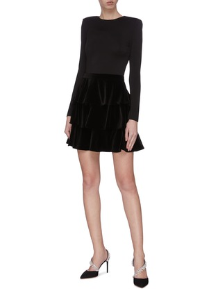 Figure View - Click To Enlarge - ALICE + OLIVIA - 'Jalen' tiered mini dress