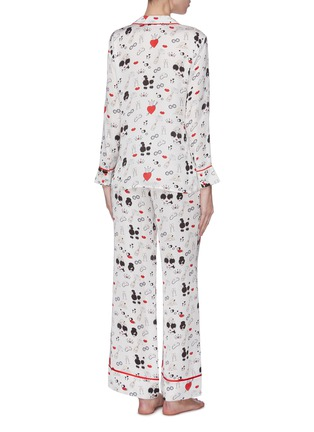 Back View - Click To Enlarge - ALICE + OLIVIA - 'Kier' Stace Face print contrast piping pajama top