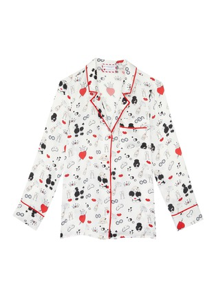 Main View - Click To Enlarge - ALICE + OLIVIA - 'Kier' Stace Face print contrast piping pajama top