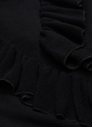 - ALICE + OLIVIA - 'Libbie' turtleneck asymmetric ruffle pullover