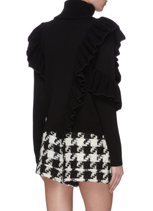 Back View - Click To Enlarge - ALICE + OLIVIA - 'Libbie' turtleneck asymmetric ruffle pullover