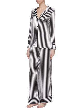Front View - Click To Enlarge - ALICE + OLIVIA - 'Meera' stripe pajama pants